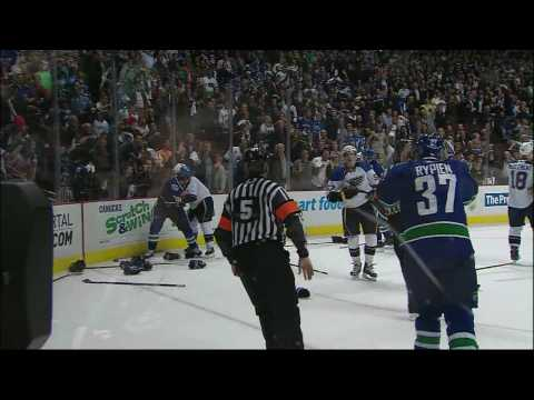 Late Game Brawl Erupts as the Canucks Win Game 2 3-0 in HD