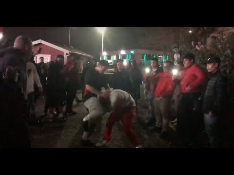 Fight at the street races